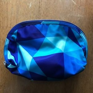 Blue Geometric Cosmetic Travel Bag